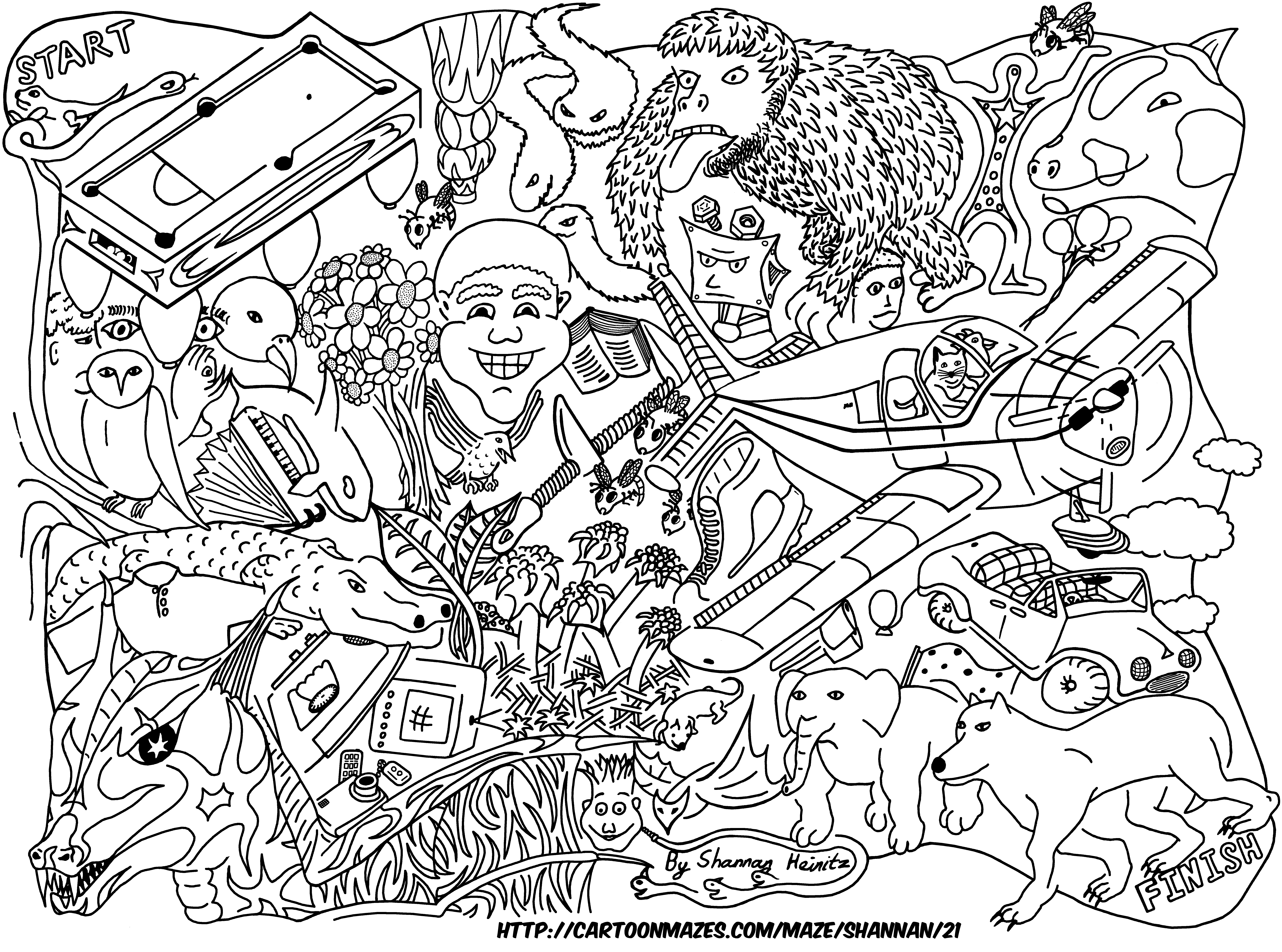 Uncategorized Difficult Mazes To Print cartoon mazes to download the high resolution image for printing